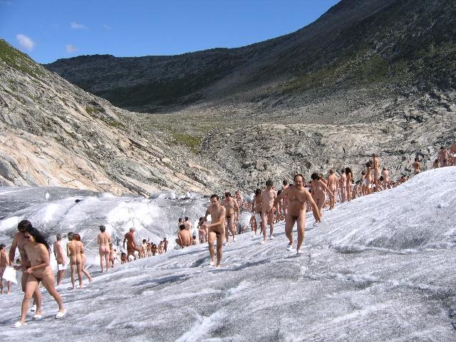 Nude switzerland glacier tunick
